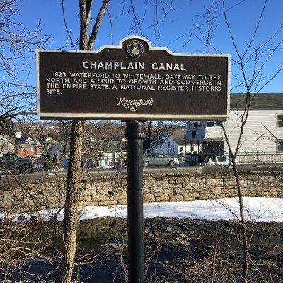 Champlain Canal Hist Sign - Route 32